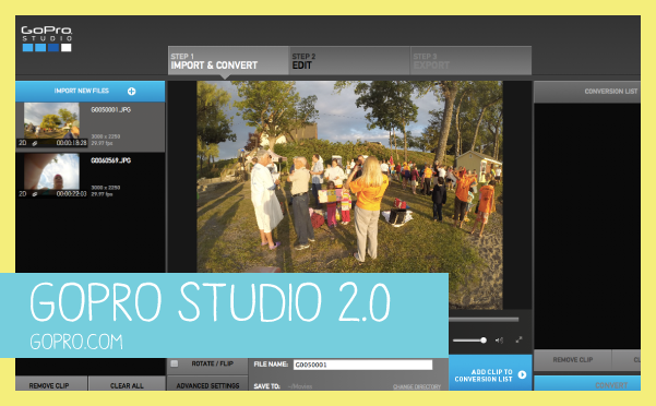 GoPro Studio Video Editing Software for Home Movies