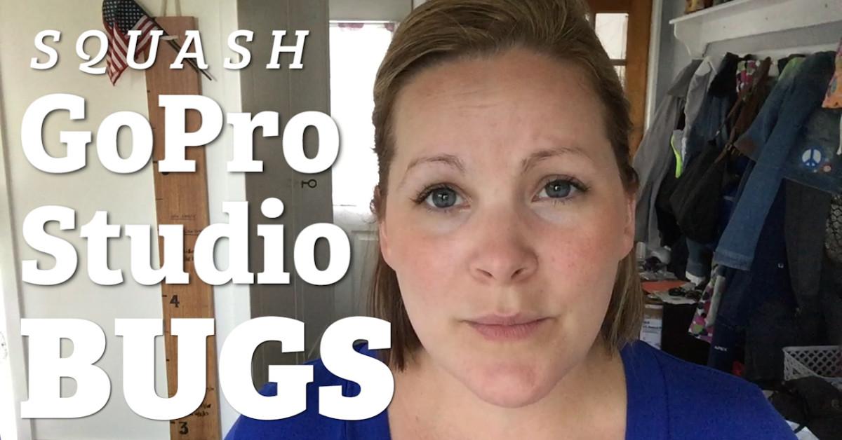 GoPro Studio Bugs? SQUASH 'EM!