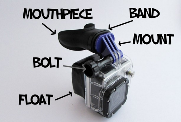 gorpro mounts - gopro mouth mount parts