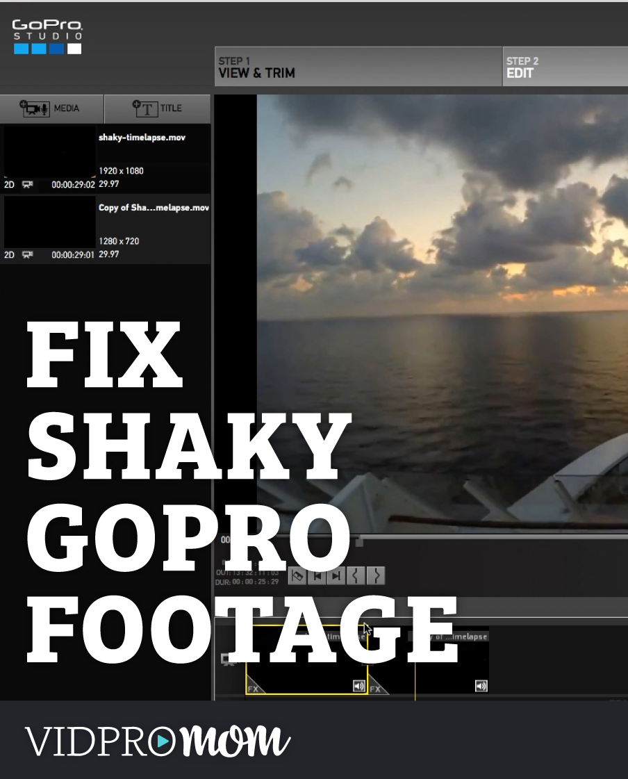 GoPro Studio Hack!! How To Fix Shaky Footage in GoPro Studio