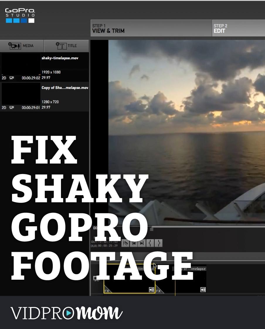 GoPro Studio Hack!! How To Fix Shaky Footage in GoPro Studio