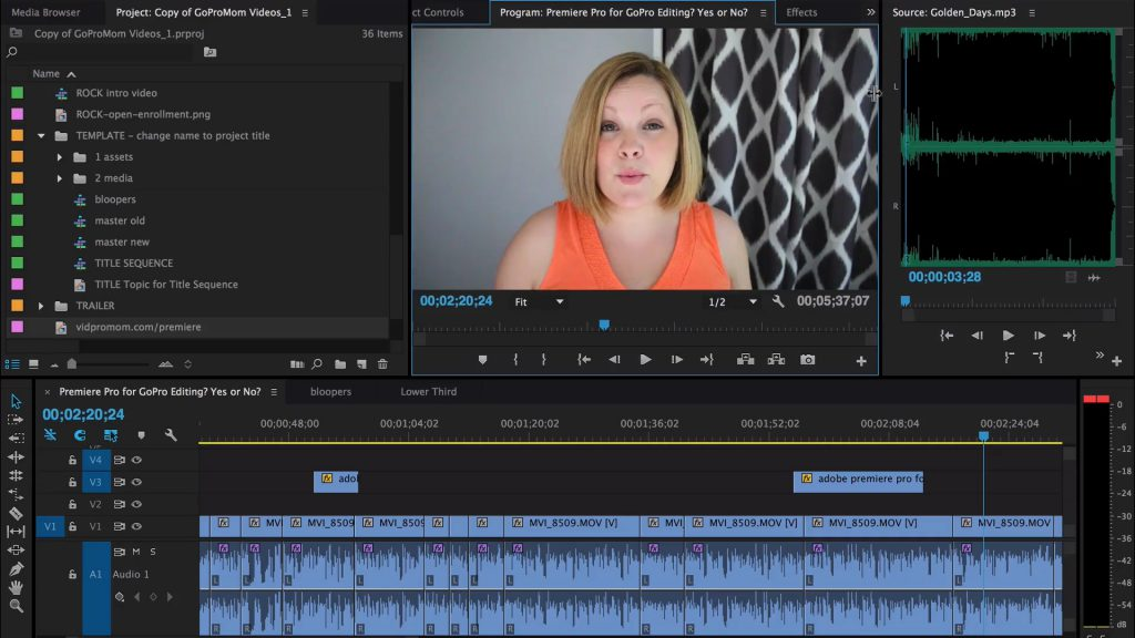 Premiere Pro for GoPro Editing – Yes or No?
