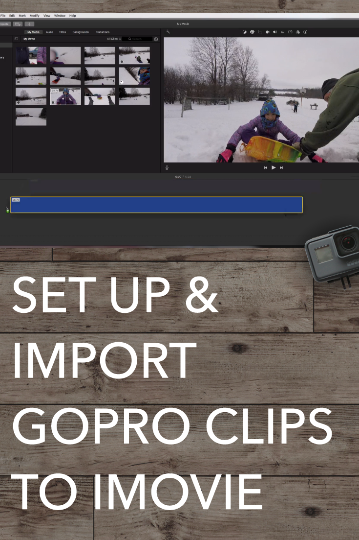 How To Import GoPro Clips to iMovie and Set up a Project in iMovie