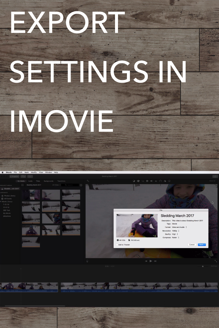 You've set up your iMovie project, done some video editing, and now you're wondering how to export a video in iMovie? You're in the right spot! In this tutorial, I will show you the exact steps to export (save) your video in iMovie to a file you can upload to YouTube or Facebook (or save on your hard drive where you can watch it).