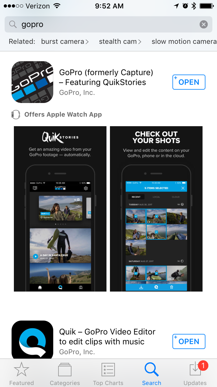 "GoPro releases new ""QuikStories"" function"