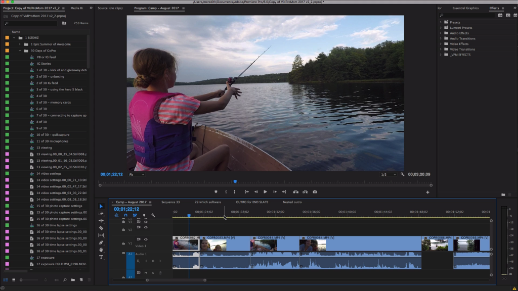 Premiere Pro is great GoPro Editing Software – it's pretty advanced, and something you might want to graduate to!