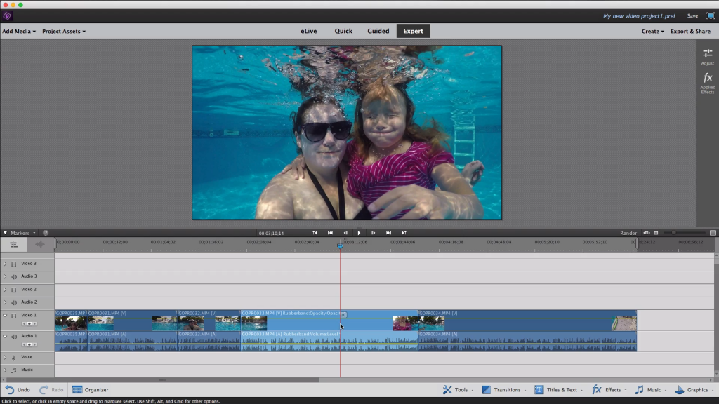 Premiere Elements is great GoPro Editing Software for beginners.
