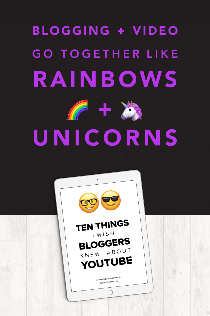 Blogging and YouTube go together like rainbows and unicorns... When I started blogging, I had NO CLUE that almost my entire audience growth would take place on YouTube. Here are 10 things I wish other bloggers knew about YouTube