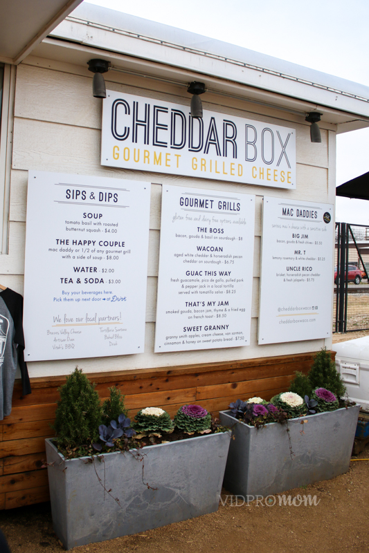 Cheddar Box Food Truck Menu