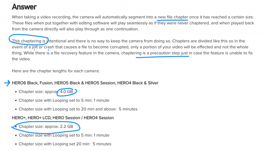 Gopro's File Chaptering Information... The Answer To Why Long Gopro Files Are Broken Up And Split On The Memory Card