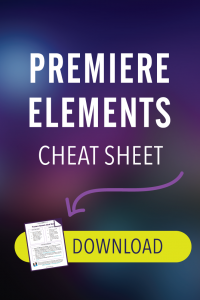 Premiere Elements Cheat Sheet Png