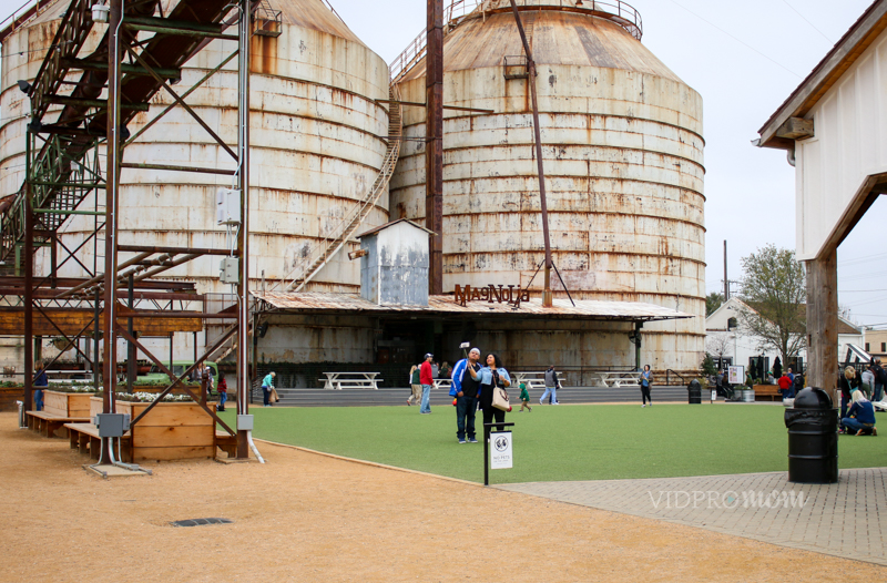 The Silos And Lawn At Magnolia Market In Waco