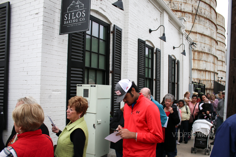 The Line In Front Of The Magnolia Market Silos Bakery Was Very Long