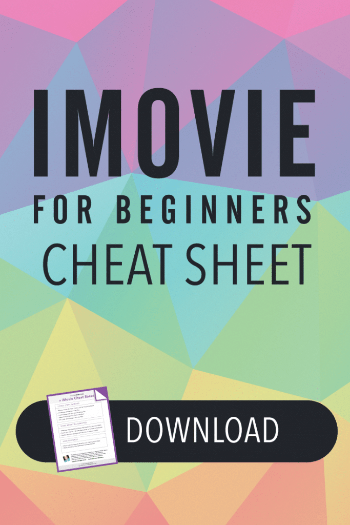 Imovie Cheat Sheet Pin