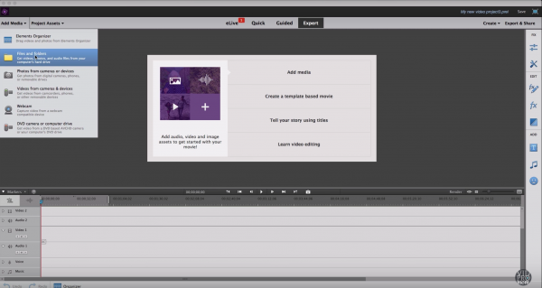 Add Media To A New Project To Start Video Editing