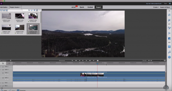 Add Clips To Your Timeline In A New Video Editing Project
