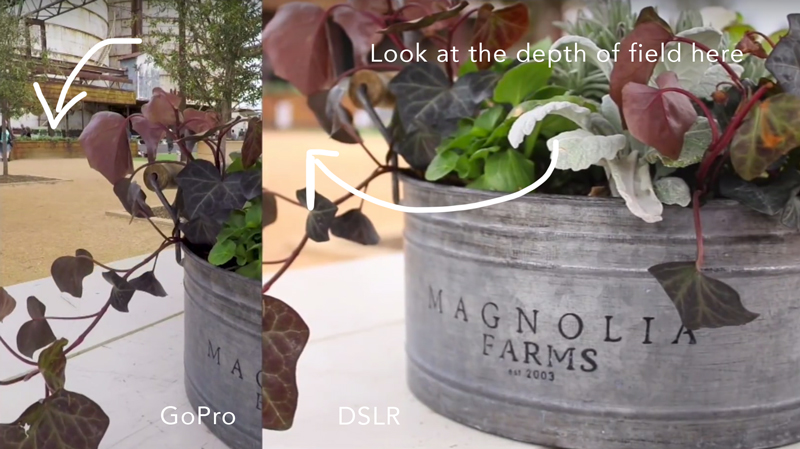 Gopro Dslr Depth Of Field