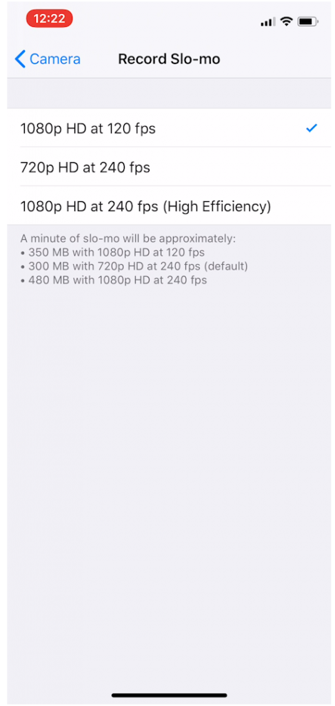 Iphone Video Record Slo Mo Settings