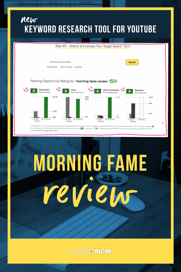 Morning Fame Review Youtube Keyword Research Tool