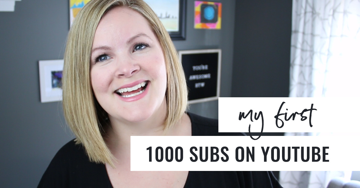 My First 1000 Subscribers On Youtube