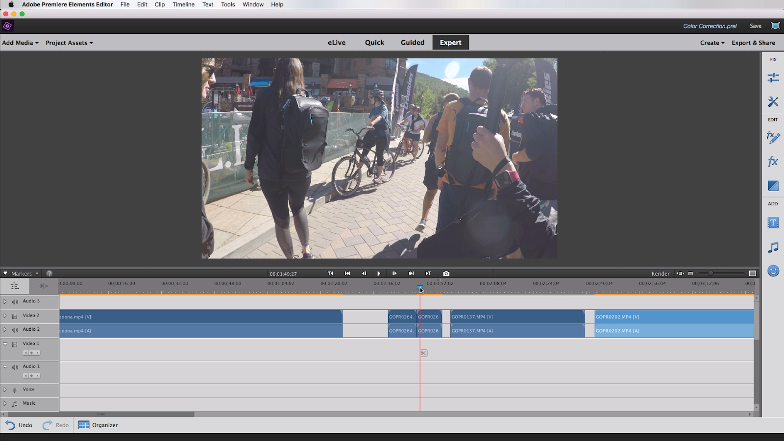Video Clip Looks Hazy Color Correction With Adobe Premiere Elements 2018