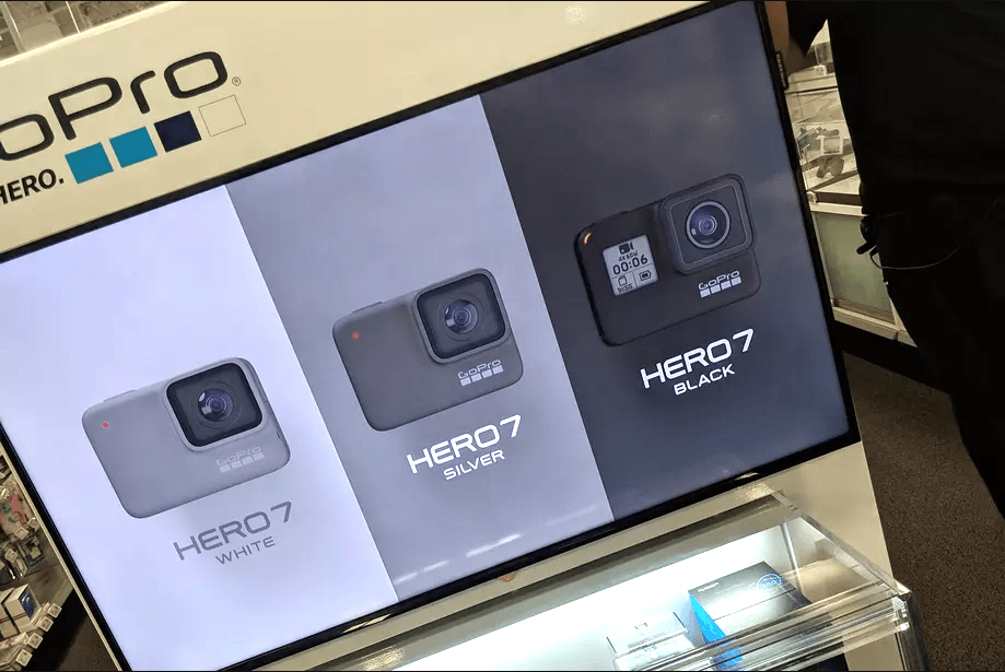 GoPro Hero 7 Display at Best Buy - Leaked Images for the new GoPro Hero7.