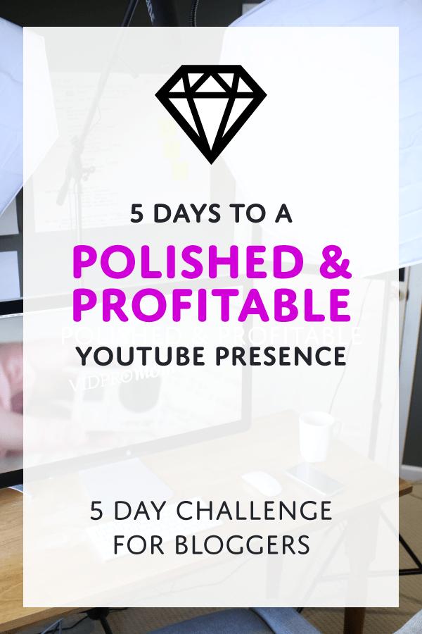 5 Days to a Polished & Profitable YouTube Presence