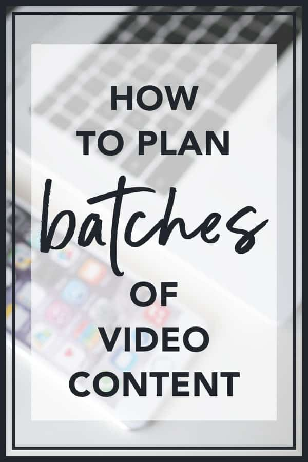 Planning Video Content