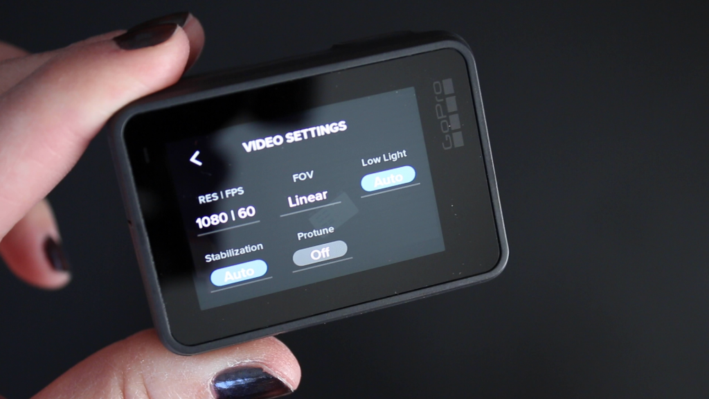 Hero 7 Video Capture Settings - Touch Screen