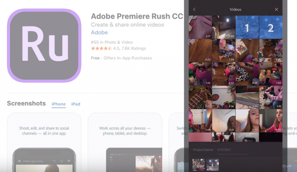 Adobe Premiere Rush For Iphone Video Editing