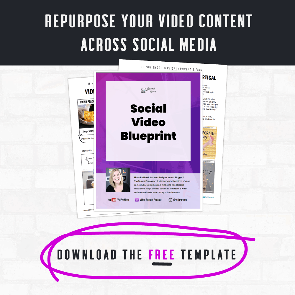 Social Video Blueprint Graphic