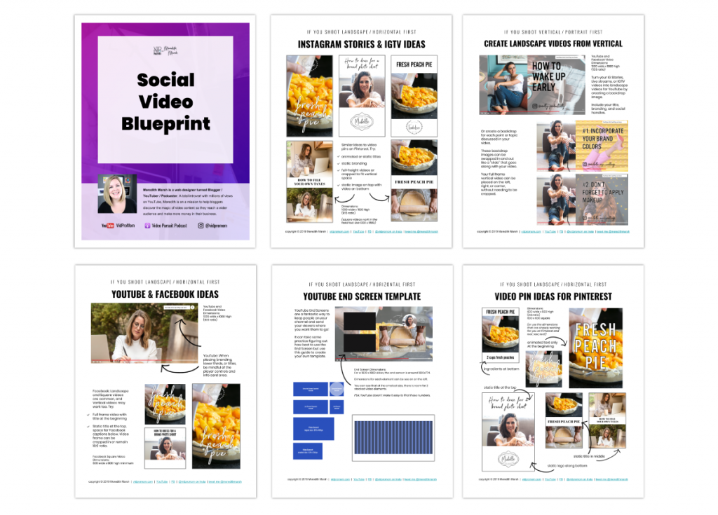 Social Video Blueprint White Wide