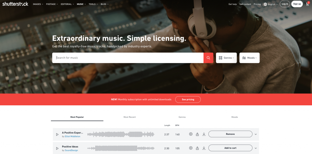 Background Music For Social Media Shutterstock