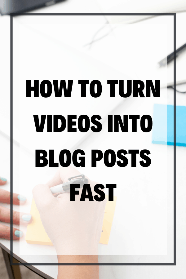 Do you know how easy it is to turn videos into blog posts so that you can get more traffic to your site, and ultimately, grow your audience? Creating blog posts out of Youtube videos is actually fast, and one of the easiest ways to repurpose videos!
