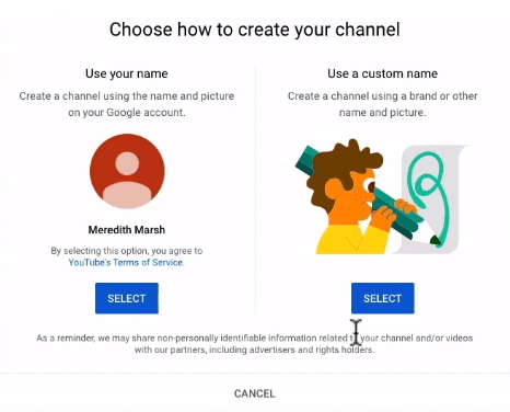 Choosing how to create your channel