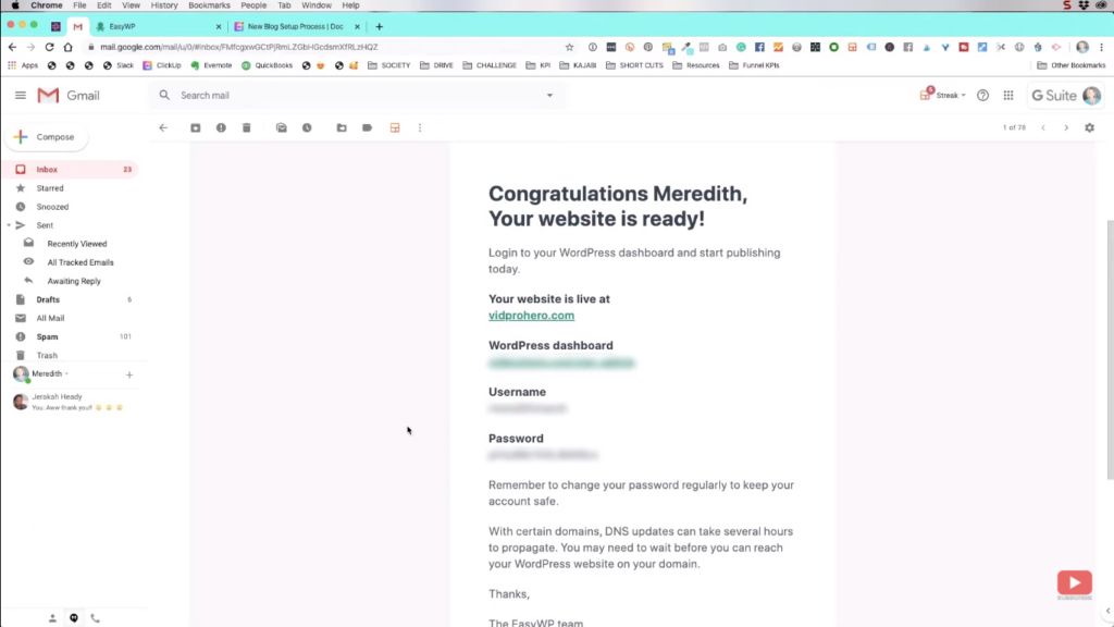 Confirmation email for your WordPress site