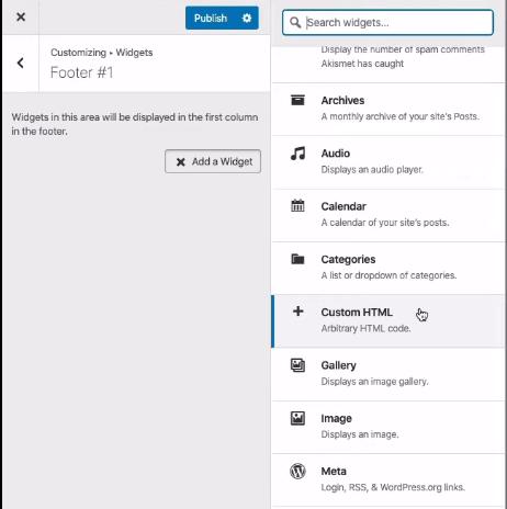 Customizing your WordPress widgets