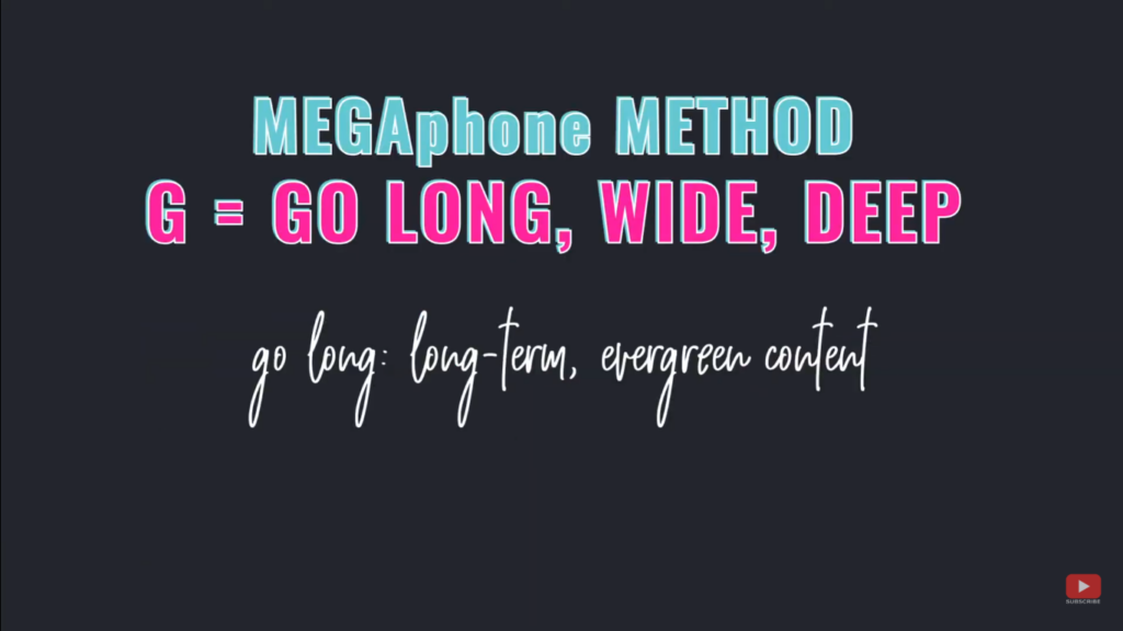 Grow Your Audience Fast using the MEGAphone Method - G = go long
