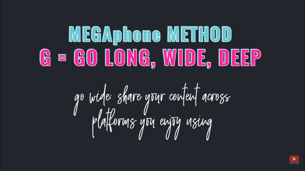 Grow Your Audience Fast using the MEGAphone Method - G = go wide