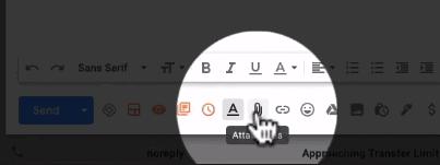 Add an attachment in Gmail