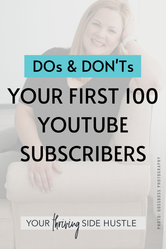When just starting out on your YouTube channel, you might wonder how to go about getting your first 100 YouTube subscribers. In this episode of my newly-named podcast, Your Thriving Side Hustle, I'm breaking down the Do's and Don'ts of reaching the important milestone of gaining your first 100 subscribers!