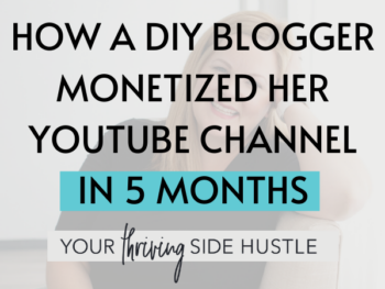 How A Diy Blogger Monetized On Youtube In 5 Months Featured 2