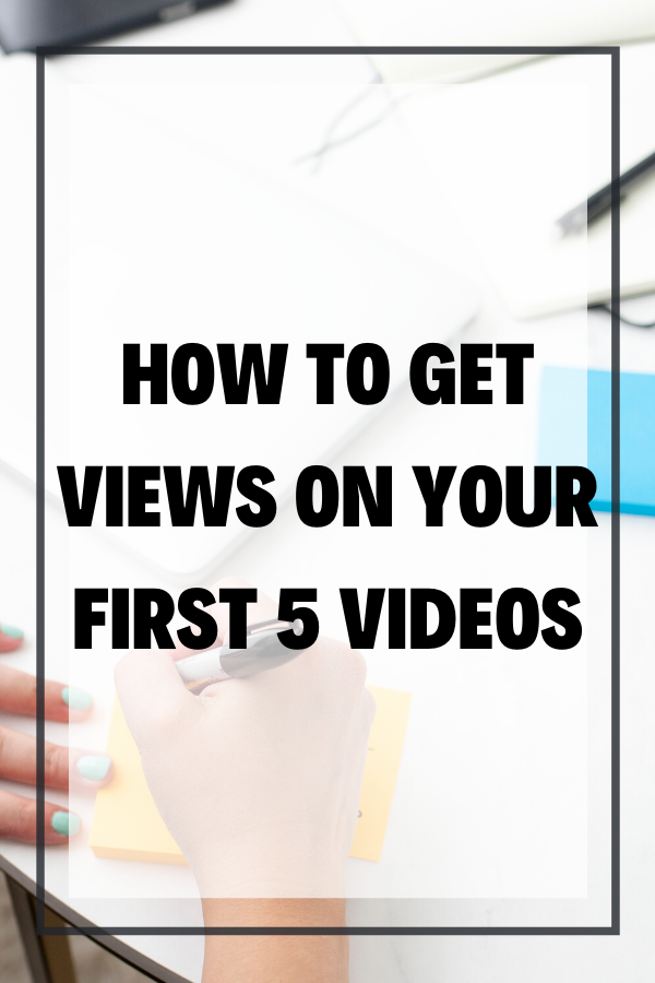 With a brand new channel, you might be wondering how to get views on your first YouTube video, or maybe your channel has been around for a while but you're still not getting views on YouTube. In this blog post, I break down how to get your first video views!