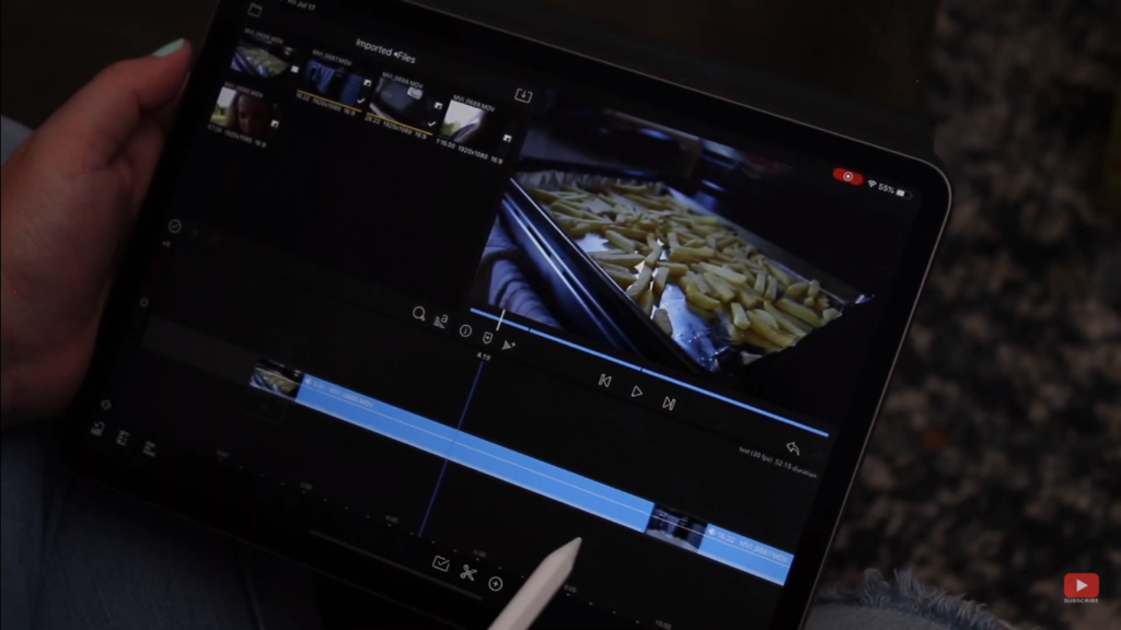 Editing videos in iPad and iPad Pro