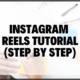Instagram Reels Tutorial