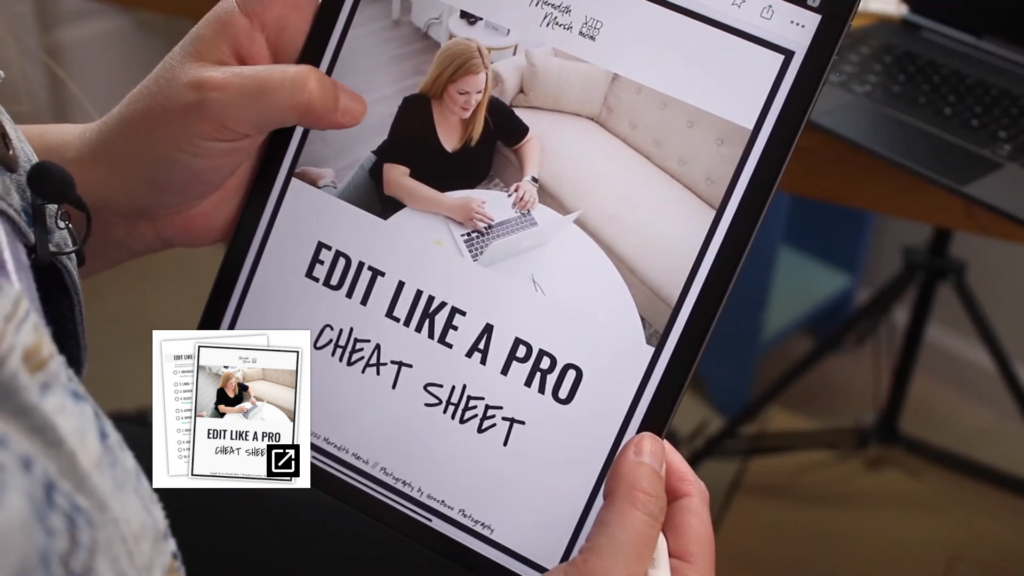 "Get my ""Edit like a pro"" cheat sheet for more video editing tips"