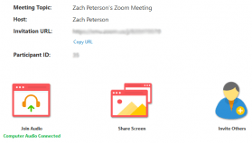 Screen sharing in Zoom