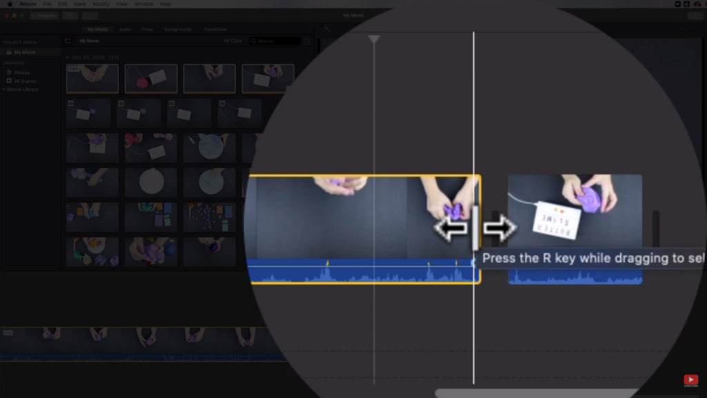 trimming clips on iMovie