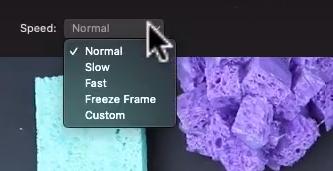 changing speed on iMovie