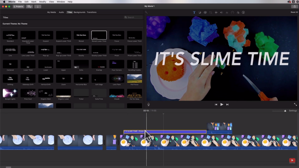Text Effects in iMovie
